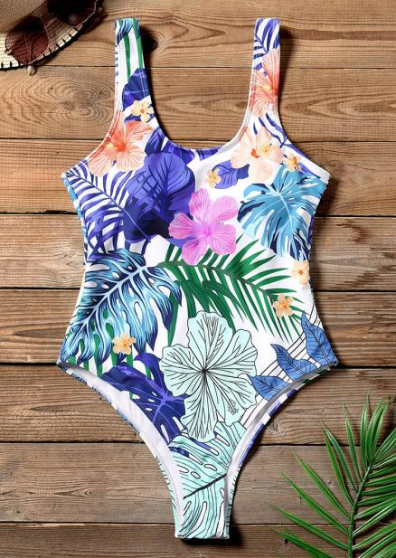 Floral One-Piece Sexy Swimsuit (443111)