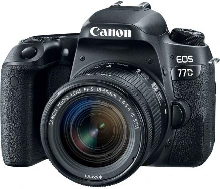 Canon EOS 77D 18-55 mm IS STM (черный)