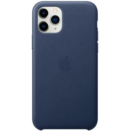 Чехол для iPhone Apple (iPhone 11 Pro Leather Case Midnight Blue)