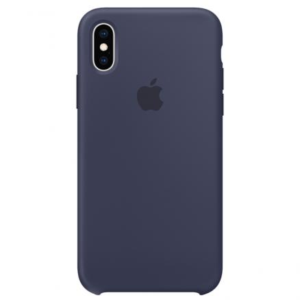 Чехол для iPhone Apple (iPhone XS Max Silicone Case Midnight Blue)