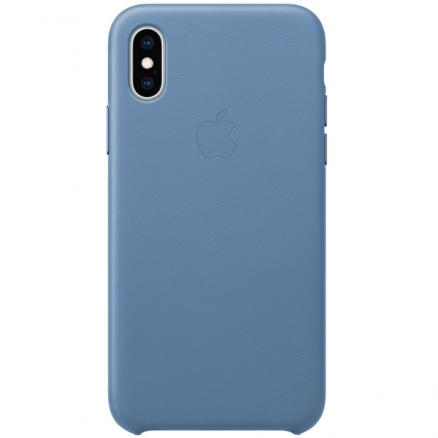 Чехол для iPhone Apple (iPhone XS Leather Case Cornflower)