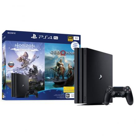 Игровая консоль PlayStation (4 Pro 1TB Black+Horizon Zero Dawn/God Of War)