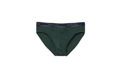 Tie-Print Cotton Briefs  - VERDE SEQUOIA - M - Intimissimi
