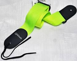 2 INCH NYLON STRAP W/LEATHER ENDS NEON GREEN DD3100NGN