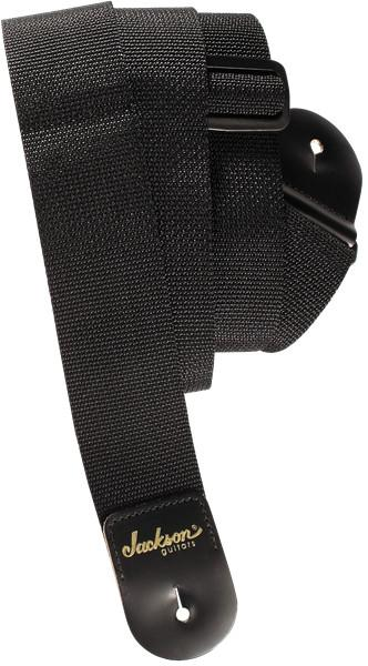 2` Poly Guitar Strap, Black