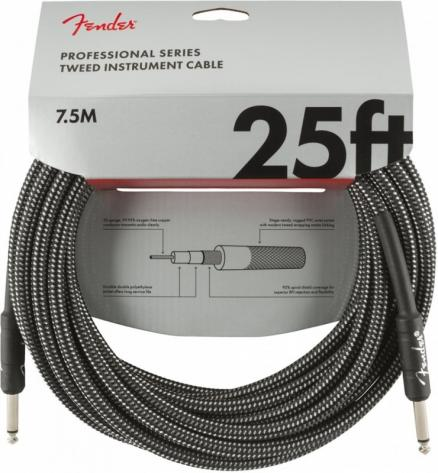 FENDER 25` INST CABLE GRY TWD