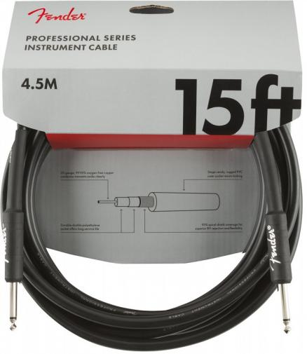 FENDER 15` INST CABLE BLK
